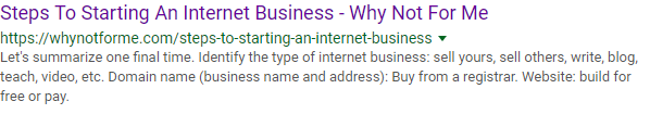 Steps To Starting An Internet Business
